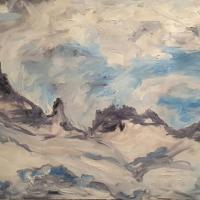 Hraundrangar á jónsmessunótt / The Lava Peak at Midsummer Night