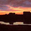 Sólarlag við Tjörnina / Sunset by the Lake