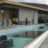 Fontana Laugarvatn. Stone works in pool
